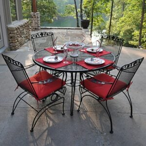 The Best Patio Furniture Option: Fleur De Lis Living Vaillancourt 5 Piece Dining Set
