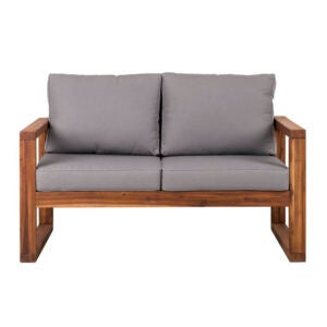 The Best Patio Furniture Option: Lyall Loveseat with Cushion from Union Rustic