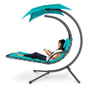 The Best Reading Chair Option: Best Choice Products Outdoor Hanging Curved Chaise