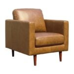 The Best Reading Chair Option: Rivet Revolve Modern Leather Armchair