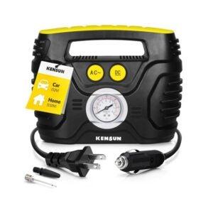 The Best Tire Inflator Option: Kensun Portable Air Compressor Pump for Car 12V DC