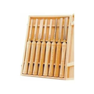 The Best Wood Lathe Option: PSI Woodworking LCHSS8 Wood Lathe 8pc HSS Chisel Set