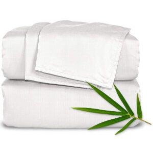 最佳竹木床单选项:纯竹木床单大号床单