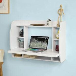 Best Desk Options: Haotian FWT18-W, White Drop-Leaf Table Desk