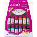 Best Fabric Paint Options: Tulip 40573 Palette Kit Brush-On Paint