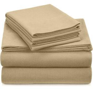 最佳法兰绒床单选择:皮松签名棉重量级天鹅绒