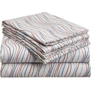 Best Flannel Sheets Options: Pointehaven Heavy Weight Printed Flannel Sheet