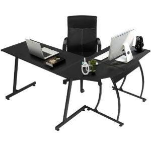 最佳游戏书桌选项:温室林L形角桌