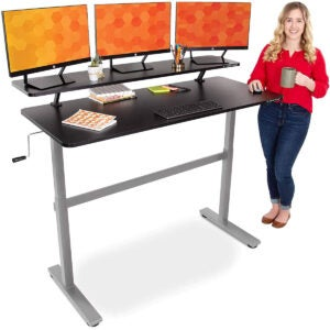 最佳游戏桌选择:站立稳定的Tranzendesk 55在常设桌子