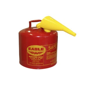 Best Gas Can Options: Eagle UI-50-FS Red Galvanized Steel Type I