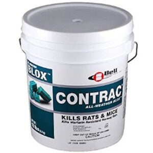 Best Mouse Poison Options: 18 LB Contrac Blox Rodent Control Rodenticide Kills Mice & Rats