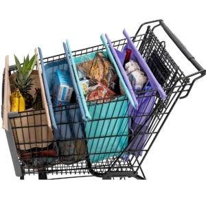 Best Reusable Grocery Bags Options: Lotus Trolley Bags -set of 4