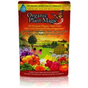 最好的玫瑰肥料选择:植物魔法植物食物100%有机肥料