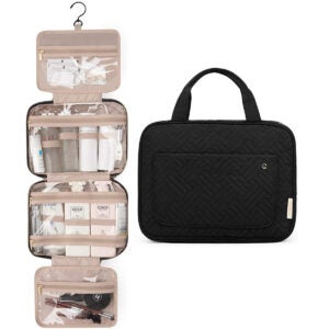 Best Toiletry Bag Options: BAGSMART Toiletry Bag Travel Bag with Hanging Hook
