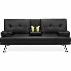 The Black Friday Furniture Option: Best Choice Products Faux Leather Futon Sofa Bed