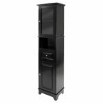The Black Friday Furniture Option: Winsome Wood Alps Black Freestanding Linen Cabinet