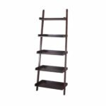 The Black Friday Furniture Option: allen + roth Java Wood 5-Shelf Ladder Bookcase