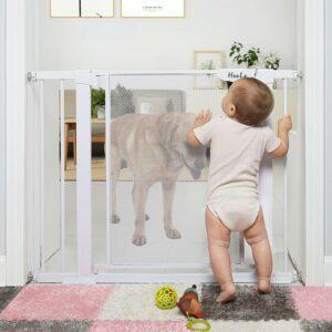 """最好的宝贝门选项:Heele 29.5-40.5""""自动关闭安全婴儿门,持久的楼梯门口持久的宽儿童门"""