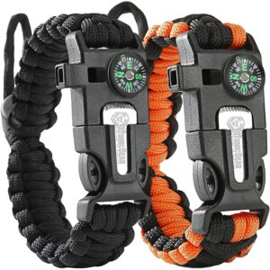 The Best Camping Gadgets Option: Atomic Bear Paracord Bracelet (2 Pack)