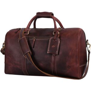 The Best Duffle Bag Option: Aaron Leather Goods Leather Travel Duffle Bag