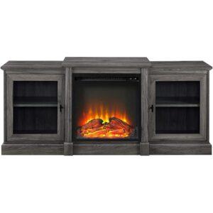 The Best Entertainment Center Option: Walker Edison Modern Wood Fireplace Stand