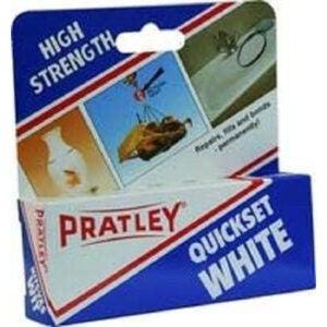 The Best Glue For Ceramic Option: Pratley Quickset White Epoxy
