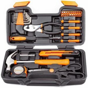 The Best Hand Tools Option: CARTMAN 39-Piece Hand Tool Set with Case