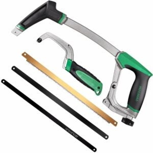 The Best Hand Tools Option: METAKOO Hacksaw with Mini Hacksaw