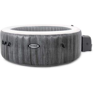 最佳充气热水浴缸选择:Intex 28439E灰木