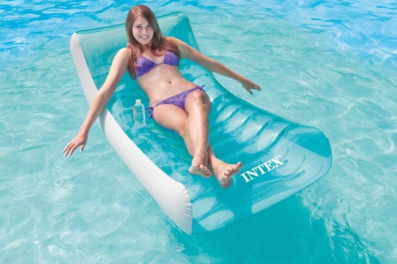 Pack of 3 Pool Floating Hammocks Buoyancy Inflated Water Lounge Premium