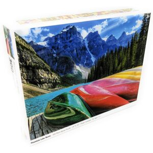The Best Puzzles Option: Colorcraft 300 Piece Puzzle - Mountain Lake Boats