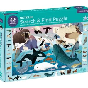 The Best Puzzles Option: Mudpuppy Arctic Life Search & Find Puzzle, 64 Pieces