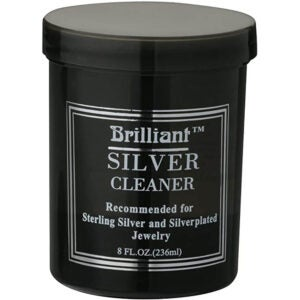 The Best Silver Polish Option: Brilliant 8 Oz Silver Jewelry Cleaner with Basket