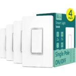 The Best Smart Light Switch Option: Single Pole Treatlife Smart Light Switch, 4 Pack