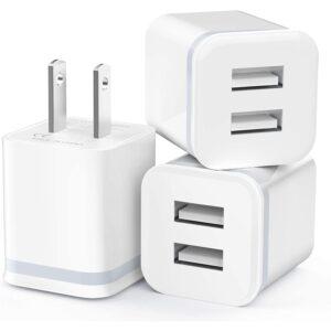 最佳USB墙充电器选择:USB墙充电器,罗atip 3包2.1A_5V双端口