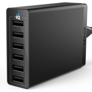 The Best USB Wall Chargers Option: USB Wall Charger, Anker 60W 6 Port