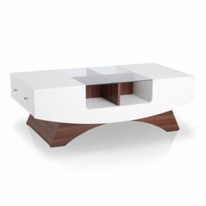 The Best Coffee Table Option: Wade Logan Madilynn Trestle Coffee Table with Storage
