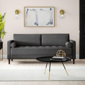 The Best Couch for Dog Option: Mercury Row Garren 75.6'' Square Arm Sofa