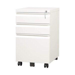 最好的文件柜选项:Devaise 3抽屉移动文件柜带锁