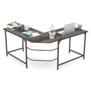 """最好的L形办公桌选择:大象59""""大L形办公桌"""