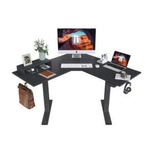 最佳l型办公桌选择:费兹博l型电动站立式办公桌