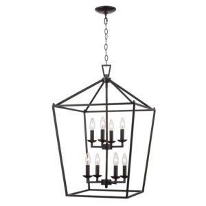 最好的吊坠灯选择:Carmen 8灯灯笼几何枝形吊灯