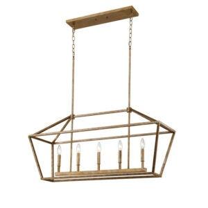 最佳吊坠灯选择:Snellville 5-Light厨房岛线性吊坠