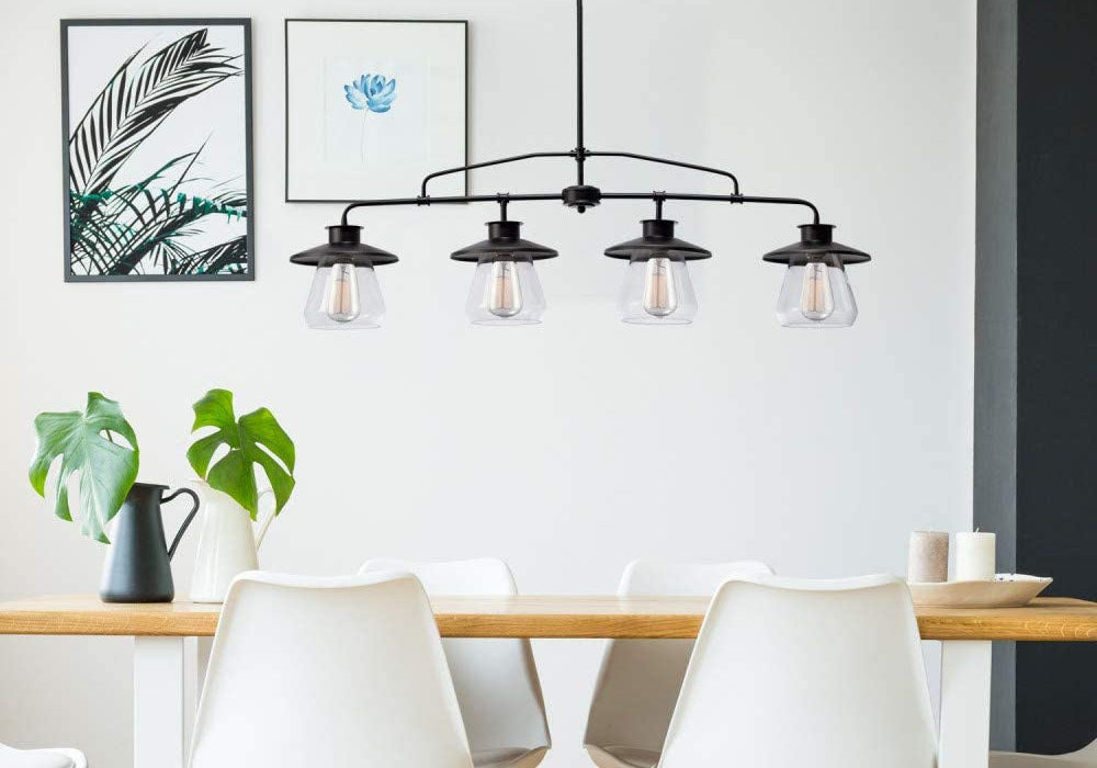 3 Lights Globes Mid Century Modern 3 Tier Chandelier Light Lighting, Pendant Lights Hanging Lamp