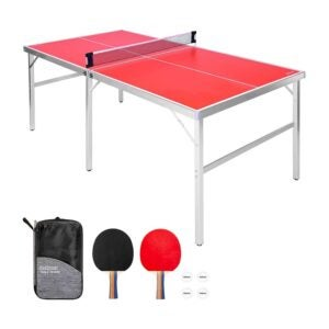 The Best Ping Pong Table Option: GoSports Mid-Size Table Tennis Game Set