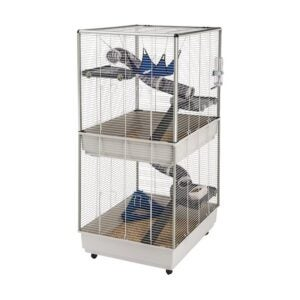 The Best Rat Cage Option: Ferplast Ferret Tower Two-Story Ferret Cage