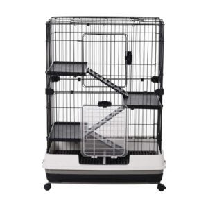 "The Best Rat Cage Option: PawHut 32"" 4-Level Indoor Small Animal Cage"