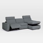The Best Reclining Sofa Option: Enzo 3-Piece Reclining Chaise Sectional w Storage
