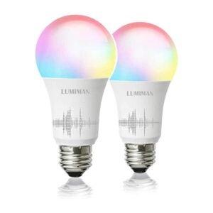 The Best Smart Light Bulb Option: LUMIMAN Smart WiFi Light Bulb, LED RGB Color Changing