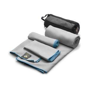 The Best Travel Towel Option: OlimpiaFit 3 Size Set Microfiber Towels